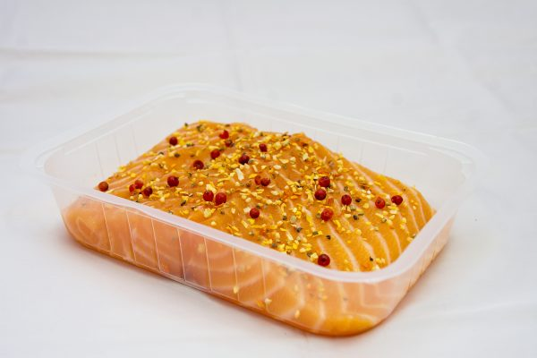 Salmon marinated frozen