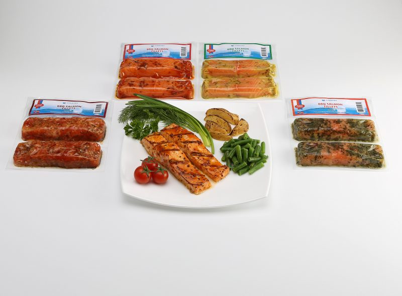 Marinated Salmon and Trout portion