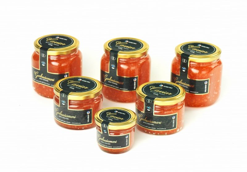 Salmon and Trout roe,caviar in jar1