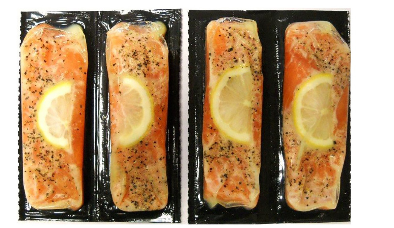 Salmon portion lemon